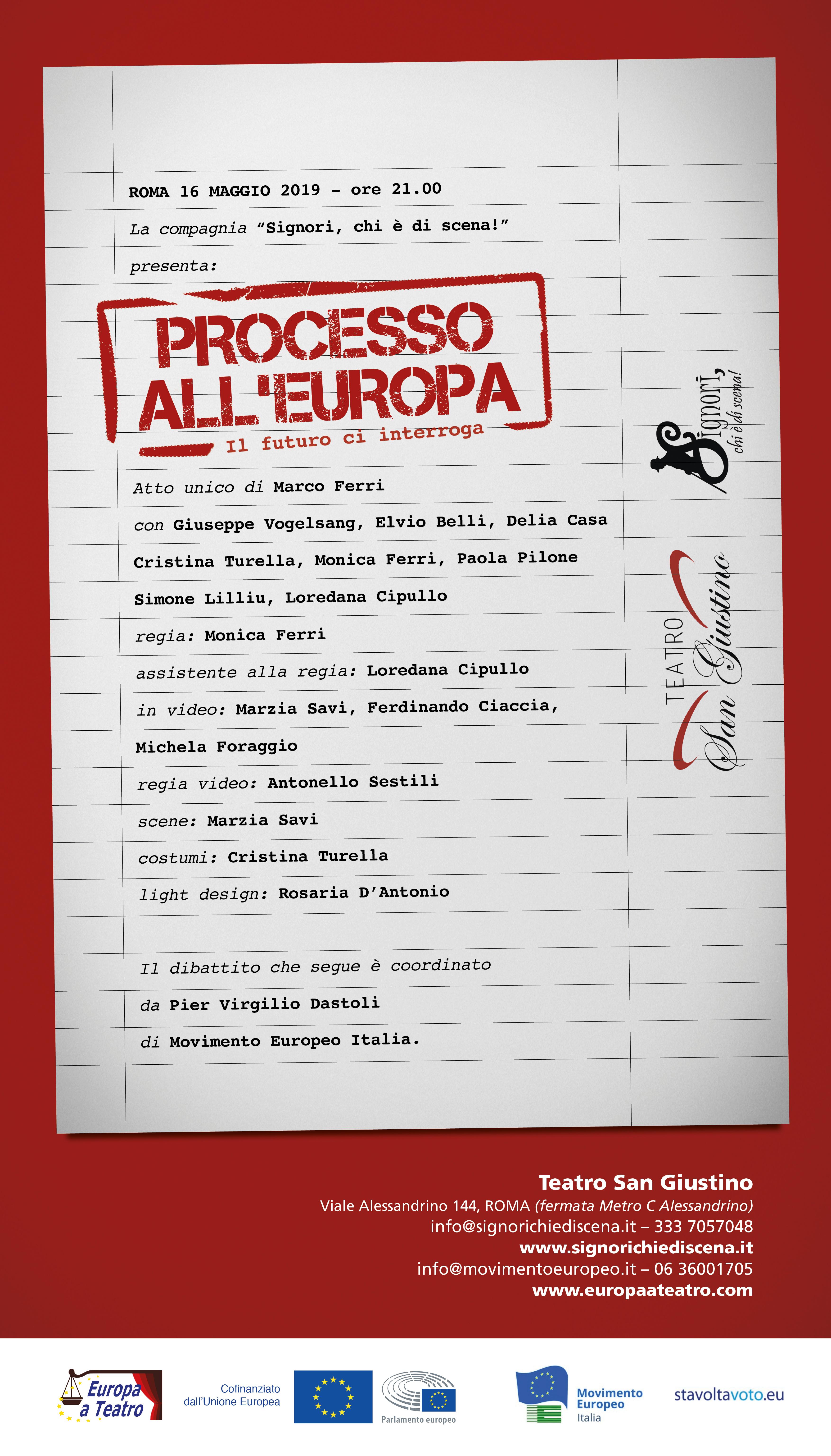 Locandina Processo all'Europa Roma (1)
